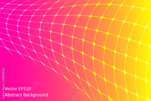 Fotobehang Abstractie Art Pink and yellow abstract vector background