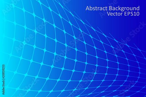 Fotobehang Abstractie Art Blue gradient abstract vector background