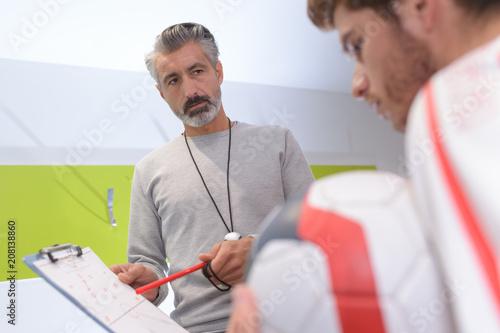 Fotobehang Voetbal football training day