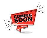 red flat line banner coming soon - 208142892