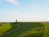 Pilsumer Leuchtturm Deich Ostfriesland - 208145869