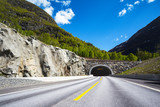 tunnel in the Norwegian mountains