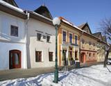 Old street in Kezmarok. Slovakia
