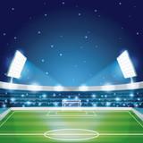 Soccer stadium field scenery vector illustration graphic design - 208153488