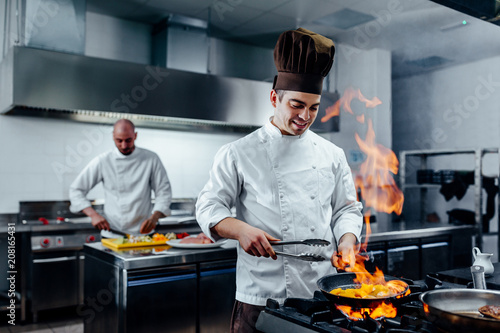 Leinwanddruck Bild Creating a delicious dish