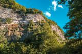 Kinchkha Waterfall and small canyon near Kutaisi, Georgia