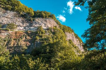 Kinchkha Waterfall and small canyon near Kutaisi, Georgia © k_samurkas