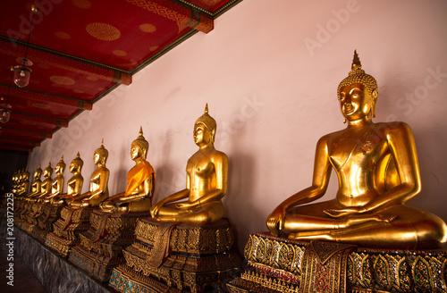 Aluminium Bangkok Golden Buddha statue
