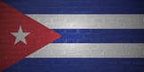 Flag of Cuba on brick wall background, 3d illustration