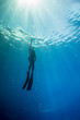 Freediving on a wreck in Hawaii