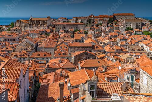 Fridge magnet Rooftops old town Dubrovnik, Croatia