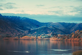 sunset in Lake Hayes, Queenstown New Zealand landscape