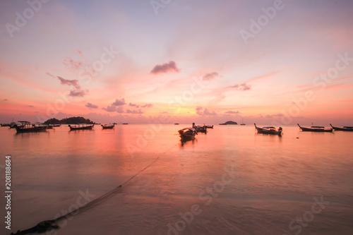 Fotobehang Cappuccino Lipe island, Koh Lipe, Satun province Thailand