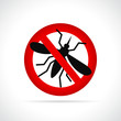 mosquito sign on white background