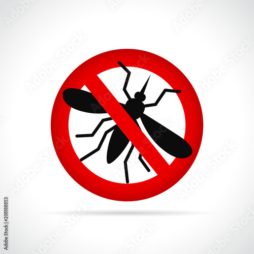 mosquito sign on white background - 208188853