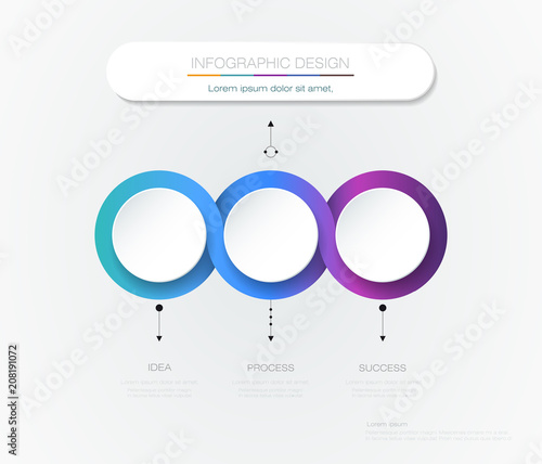 vector infographic 3d circle label template design infograph with 3