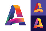 Letter A Initial vector Logo design. Good for WEB and printing. - 208191483