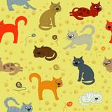 Fototapeta Child room - Cat life © Julia