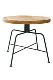 Wooden table steel legs. - 208207695