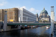 Baustelle Humboldtforum und Berliner Dom von der Spreeseite