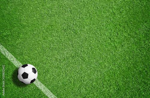 Leinwanddruck Bild Fußball / Sport / Rasen