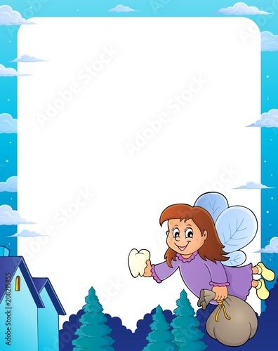 Canvas Voor kinderen Tooth fairy theme frame 1