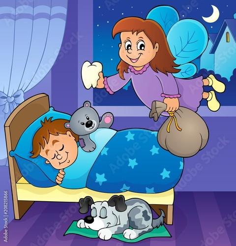 Canvas Voor kinderen Tooth fairy theme image 4