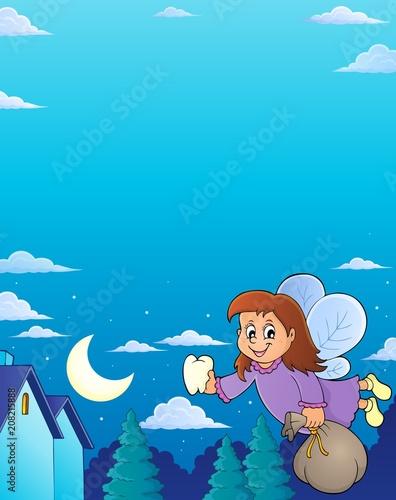 Canvas Voor kinderen Tooth fairy theme image 6