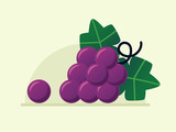 Grapes. Flat design style.