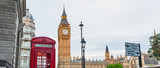Central London, England with famous landmark sights Big Ben and parliament in Westminster © MichaelJBerlin