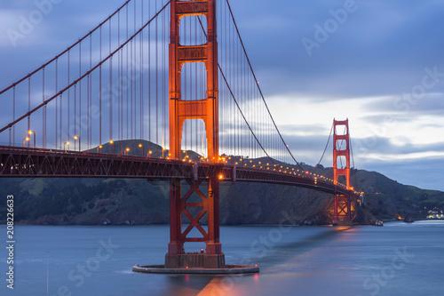 Fotobehang Bruggen Golden Gate Bridge at evening light, San Francisco