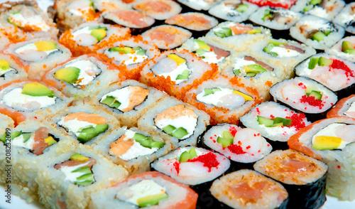 Aluminium Sushi bar sushi, rolls, for the restaurant menu