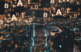 Alphabets with Downtown Los Angeles at night - 208236885