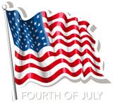 American flag sign - 208237411