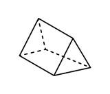 Triangular Prism Geometric Figure in Black Color - 208238484