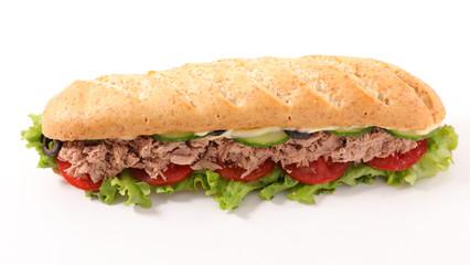 sandwich with tuna and salad