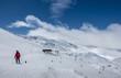 Ski slopes of Pradollano in Sierra Nevada mountains in Spain