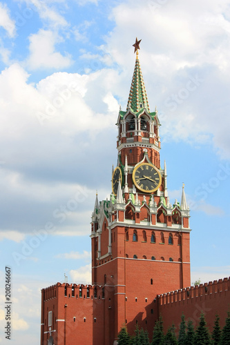 Fotobehang Moskou Tower of the Moscow Kremlin