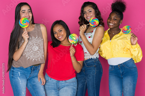 Teenage Group Of Girls