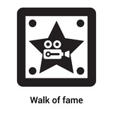 Walk of fame icon vector sign and symbol isolated on white background, Walk of fame logo concept