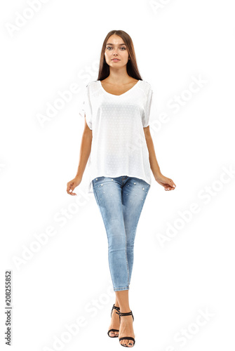 woman on white space