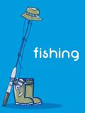 Fishing sport cartoon - 208256411