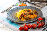 beef tajine with vegetables and Semolina - 208266064
