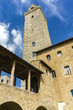 Old stone towers at San Gimignano in Tuscany, Italy