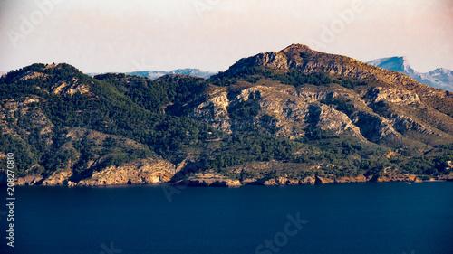 Aluminium Nachtblauw View over Badia de Pollenca from Formentor