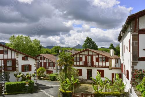 Maisons typiques d'Ainhoa, Pyrénées-Atlantiques