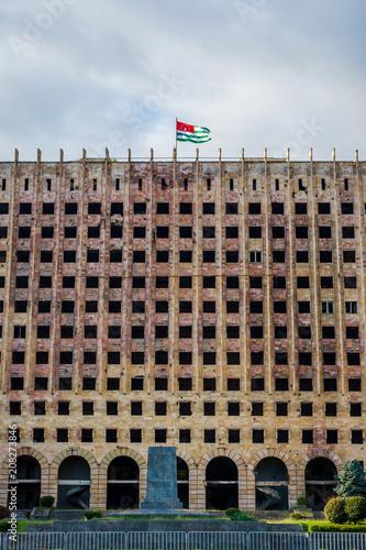 Abkhazian parliament, Sokhumi © dinozzaver