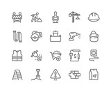 Simple Set of Construction Related Vector Line Icons. Editable Stroke. 48x48 Pixel Perfect. - 208277487