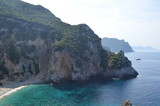 Beautiful Secret Bay Surrounded by Rocky Cliffs. Corfu Island, Greece - 208283229