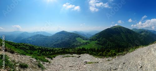 Panorama of the Vratna valley at the Mala Fatra.
